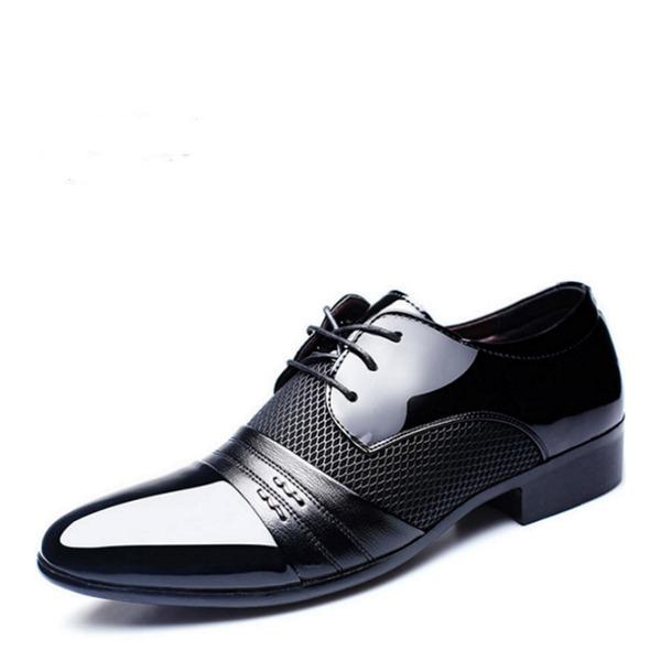 Мужская Кожа из микроволокна На плокой подошве Латино Современный Обувь для танцев