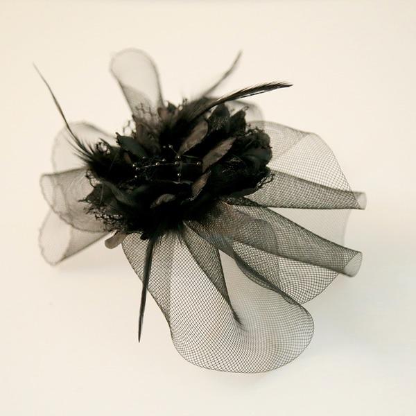 Filles Beau Fil net/Feather Bijou de front / frontal/Fleurs et plumes