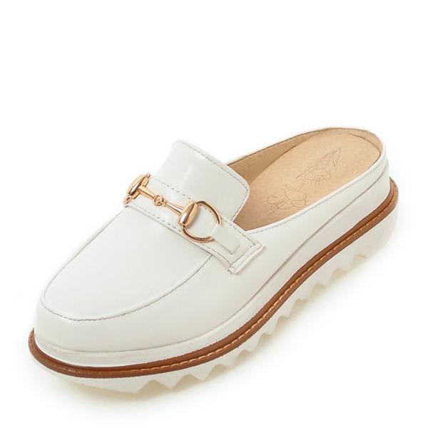 Vrouwen Patent Leather Wedge Heel Sandalen Slingbacks met Gesp schoenen