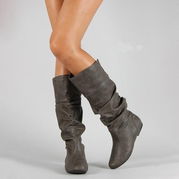Kvinder Kunstlæder Lav Hæl Støvler med Andre sko