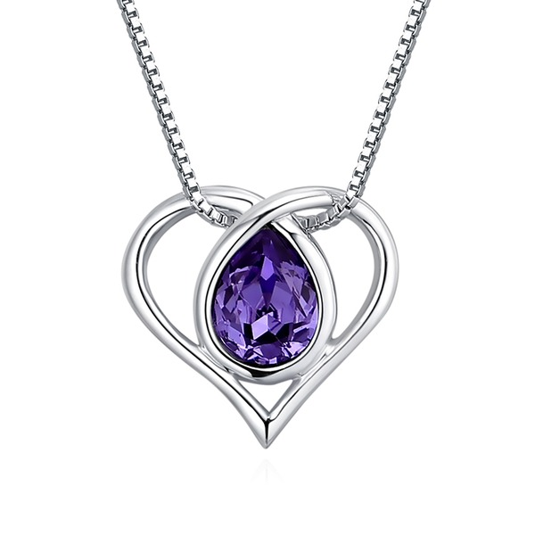 Heart Shaped Alloy Crystal With Imitation Crystal Women's Fashion Necklace (Sold in a single piece)
