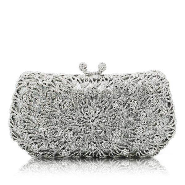 Refined Crystal/ Rhinestone/Alloy Clutches/Minaudiere
