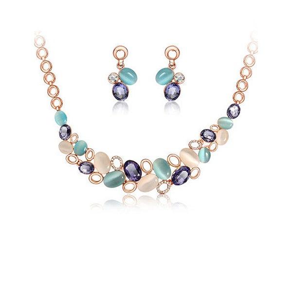 Bunte Legierung Tschechische Stones Opal Frauen Schmuck Sets
