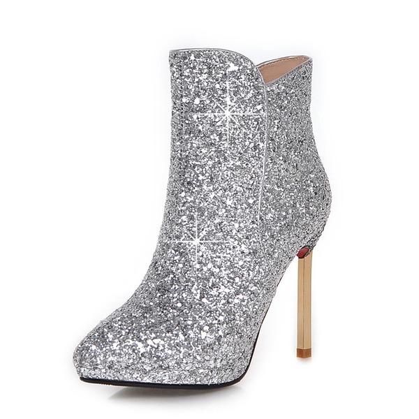 Kvinner Glitrende Glitter Stiletto Hæl Ankelstøvler sko