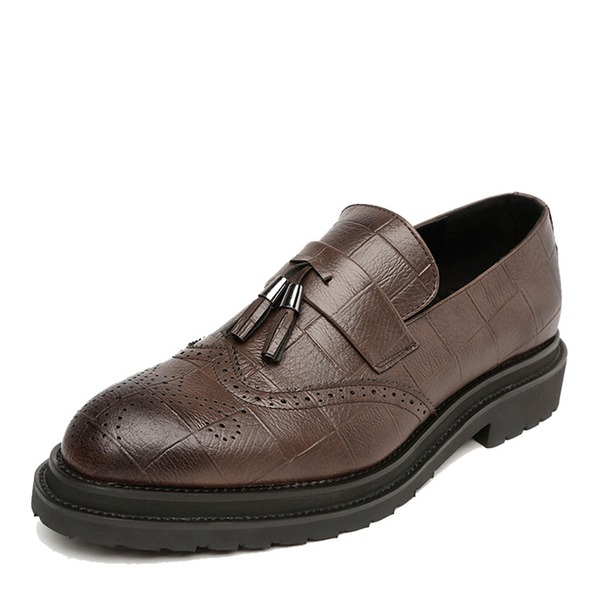 Herren Microfaser Leder Quasten-Loafer Lässige kleidung Herren-Halbschuhe