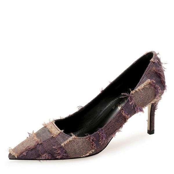 Kvinnor Tyg Stilettklack Pumps Stängt Toe skor