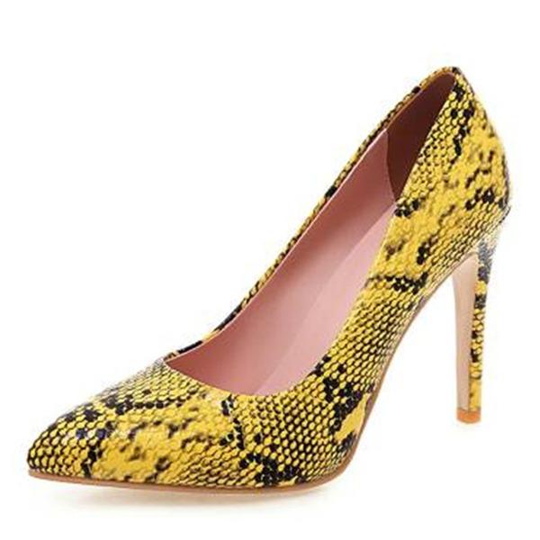 Женщины Кожа из микроволокна Высокий тонкий каблук На каблуках с Другие обувь