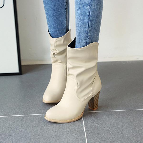 Vrouwen PU Stiletto Heel Laarzen met Roes schoenen