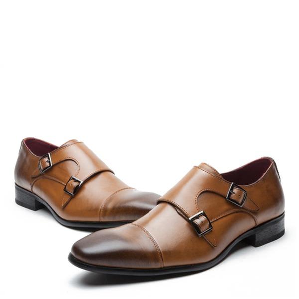 Mænd ægte læder Monk-stropper Pæne sko Oxfords til Herrer