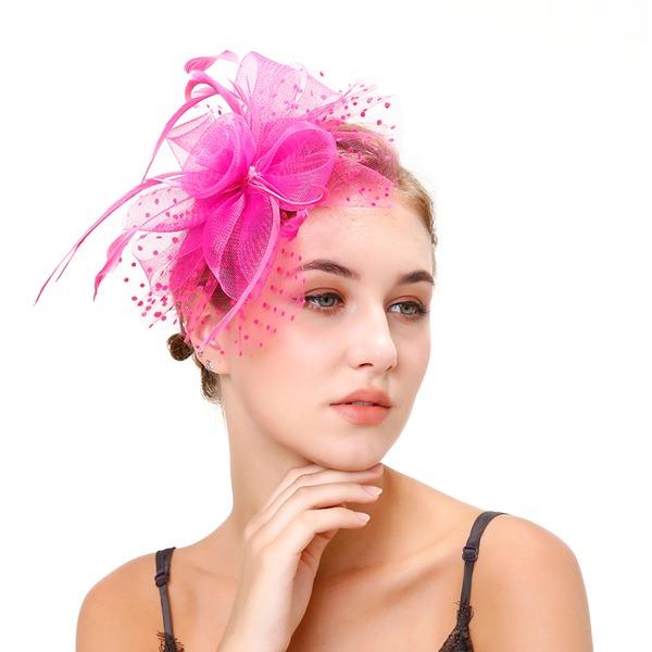 Signore Stile classico Piuma/Filato netto con Piuma Fascinators/Kentucky Derby Hats