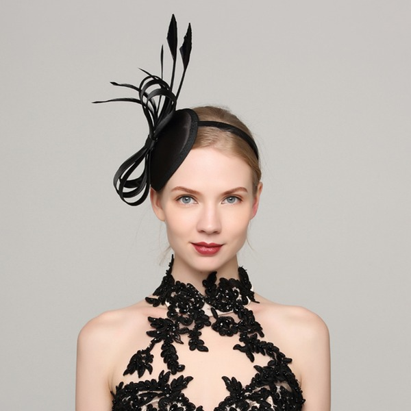 Dames Mode Batiste/Feather avec Feather Chapeaux de type fascinator