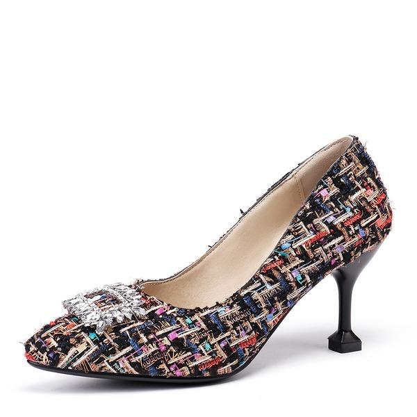 Donna Tessuto Tacco a spillo Stiletto scarpe