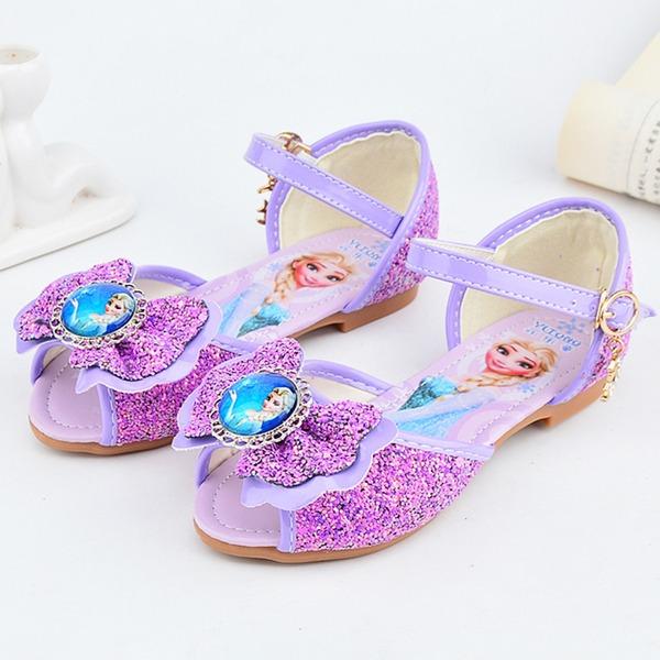 Fille de À bout ouvert similicuir Chaussures de fille de fleur avec Bowknot