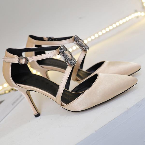 Kvinnor Satäng Stilettklack Pumps skor