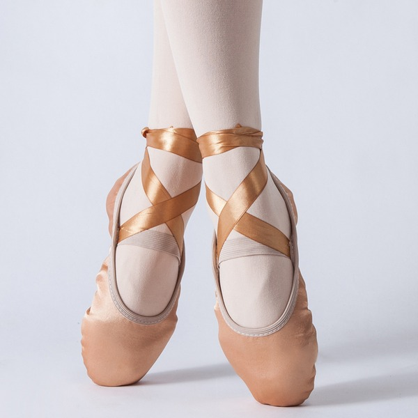 Mulheres Cetim Balé Sapatos de dança