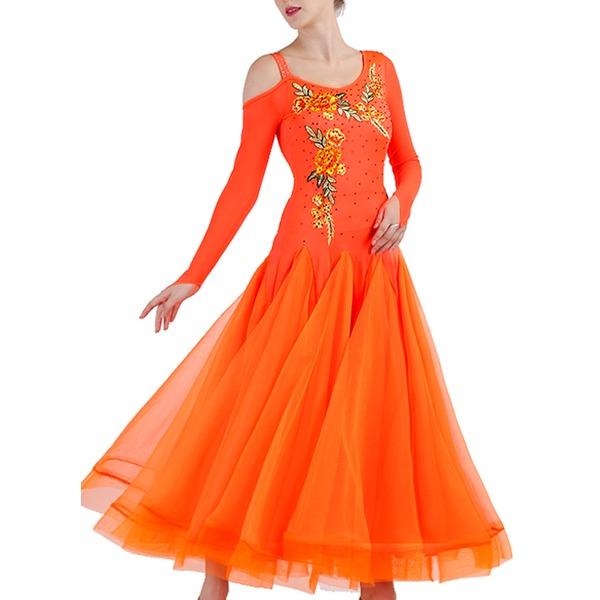 Frauen Tanzkleidung Elasthan Organza Moderner Tanz Aufführung Kleider