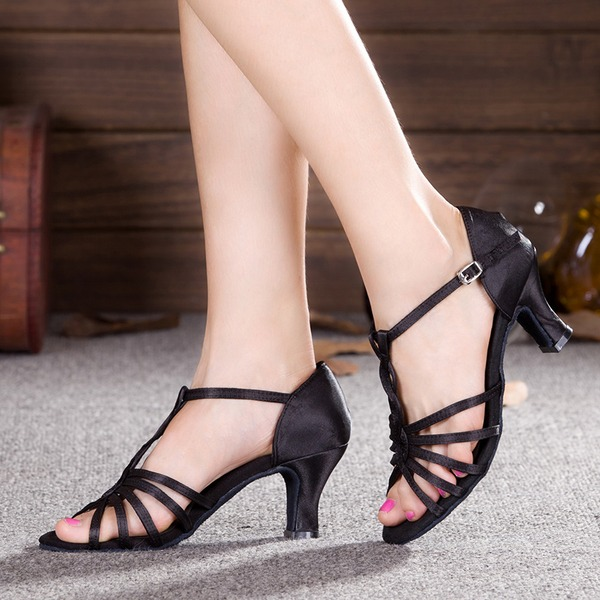 Women's Satin Heels Latin Dance Shoes