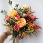 Pretty Atado a mano Simulación de PU Materiales/Flores de seda Ramos de novia -