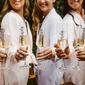 - Personalizzato Occhi-cattura Decalcomania Vetro Flute Di Champagne
