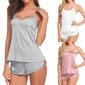 Bridal/Feminine Simple And Elegant Spandex CamiSets Cami Sets