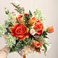 Classic Free-Form Silk Flower Bridal Bouquets -