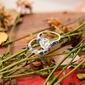 Plata esterlina Zirconia cúbica aureola Vendimia Corte Del Corazón Conjuntos de novia -